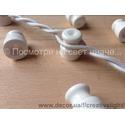 Провод витой в оплетке для наружной проводки (ретро-провод) белый
