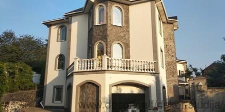 Фасад дома из материала Sand of TROY — Декор Студия Акварель