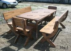 Набір садових меблів з дерева / Код: Нм-5