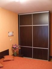 Шкаф-купе 2 двери, темно-коричневый