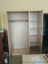 Шкаф трёхдверный для одежды и документов — ОРБИТА К