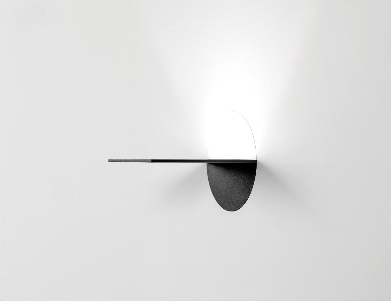Прямоугольный светильник с круглой основой