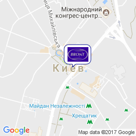 Бронт-Киев на карте