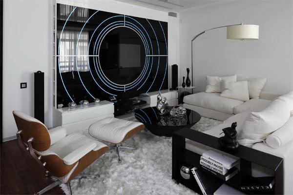 Квартира белого цвета от kerimov parthers architects