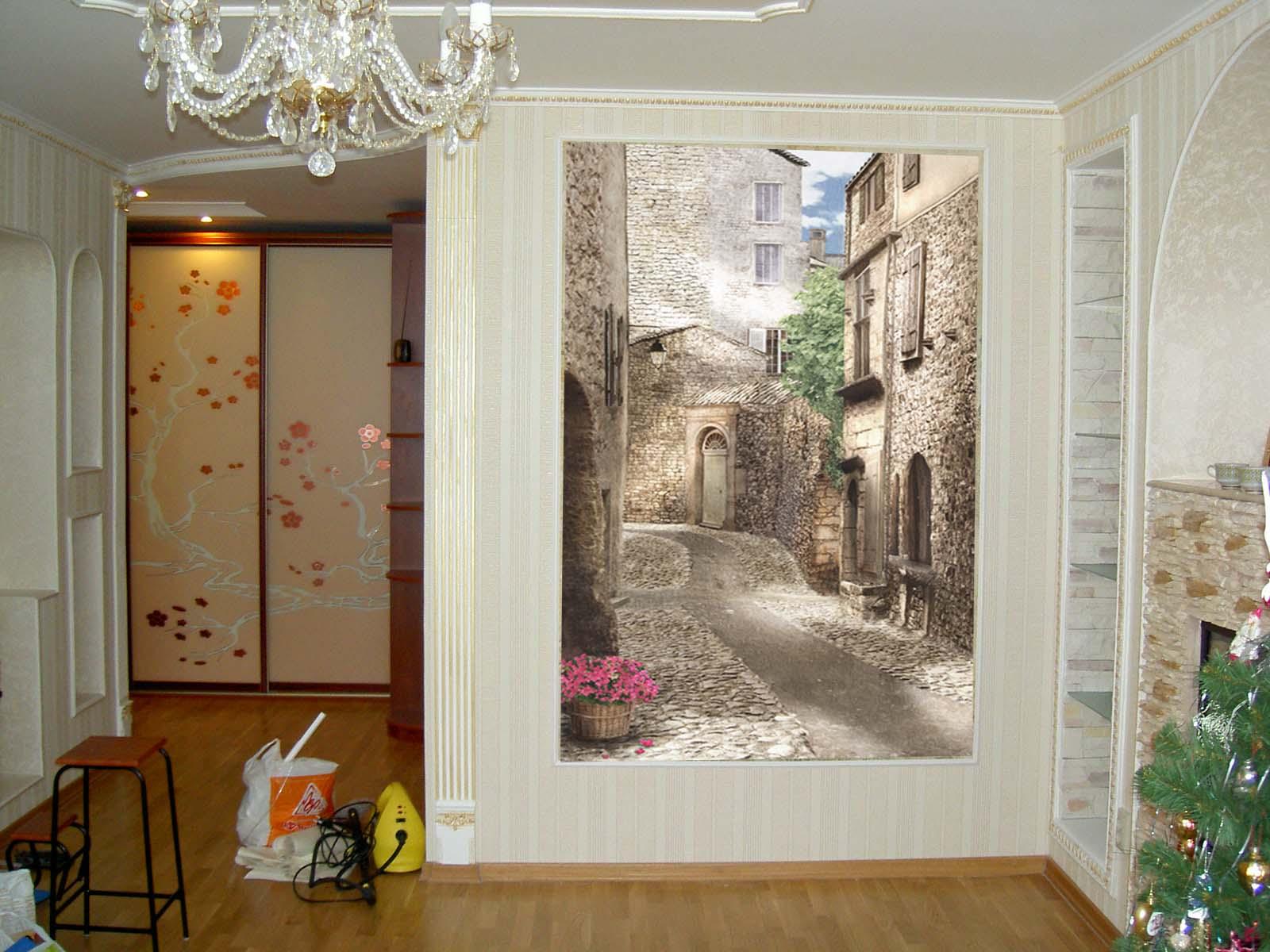 Фреска для кухни в интерьере фото