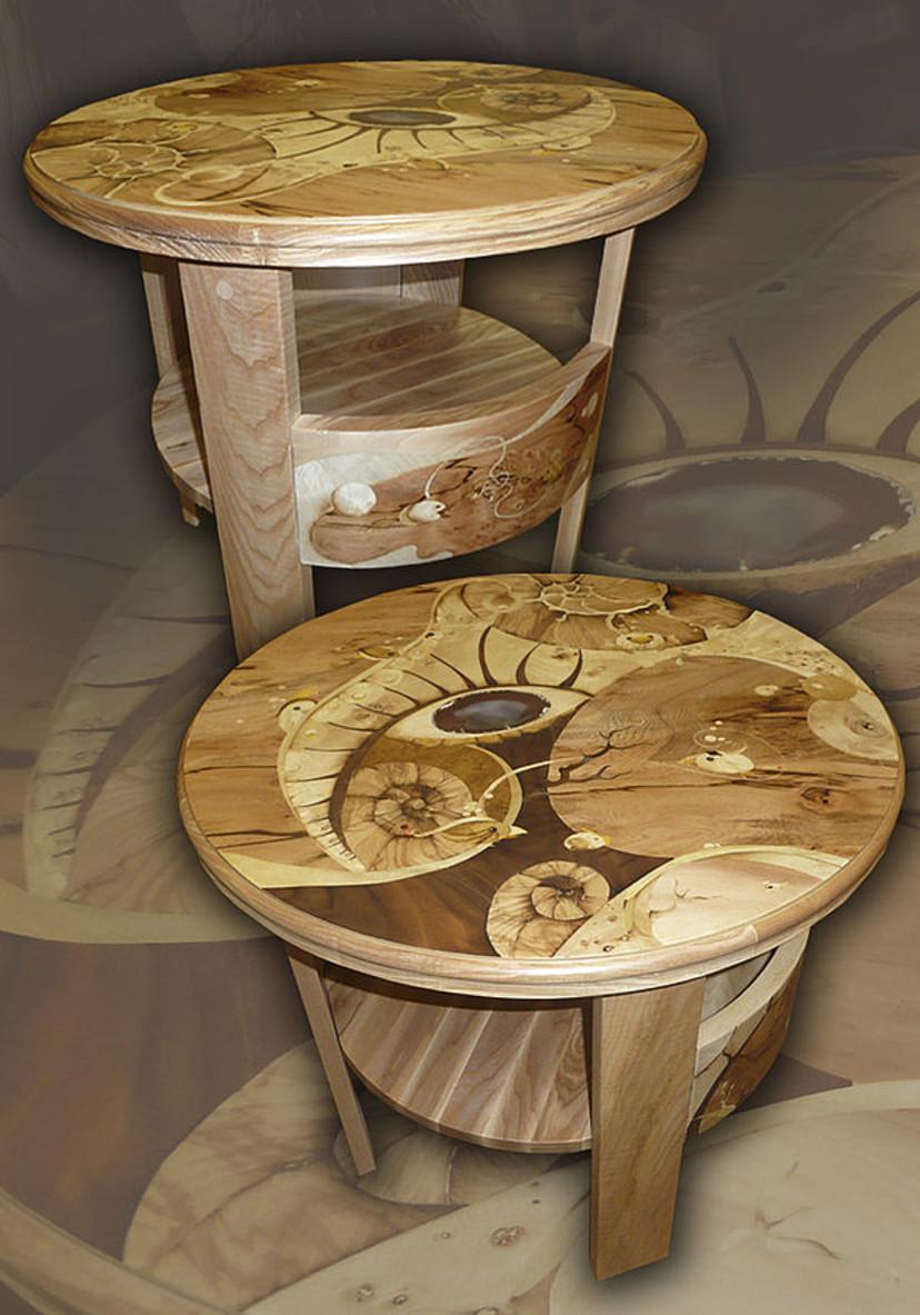 Столик кофейный круглый. Радера.