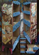 шкафчик для гостиной, этажерка Цирк. — Мебельная фабрика РАдеРА