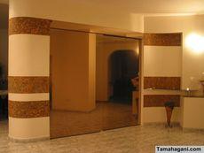 • Шкафы купе, подвесные двери стекло